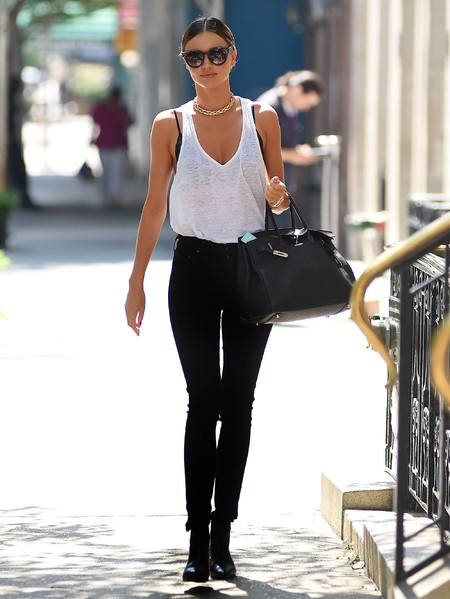 Miranda Kerr - new york city summer dressing - hermes birkin bag - handbag.com