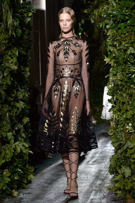 Valentino - paris couture week - autumn winter aw 14 - dreamy dresses - black and gold dress - handbag.com
