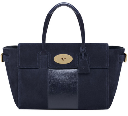 Mulberry Bayswater Buckle Stripe Mixed Mat Midnight Blue-autumn winter 2014-handbag.com