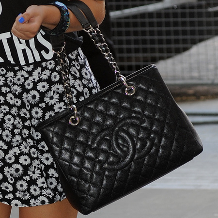 Amelia Lily's quilted Chanel tote bag