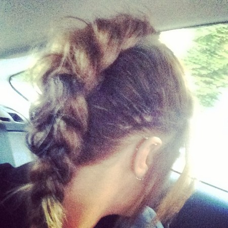 Caroline Flack's French braid