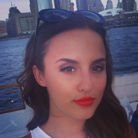 lucy watson red lipstick-made in chelsea new york-how to do eyeliner like lucy watson-handbag.com