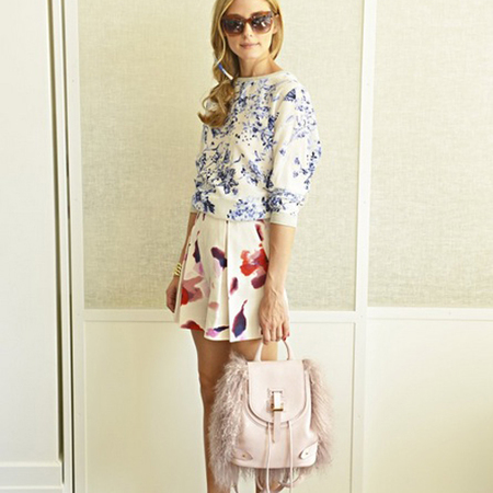 olivia palermo-meli melo bag-fluffy backpack-style blog-british handbag brands-handbag.com
