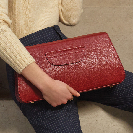 radley handbag-no1 collection-premium leather bag-Notting Hill Structured Clutch bag-red bags-handbag.com