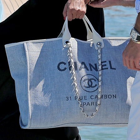 Sabia Boulahrouz's canvas Chanel bag