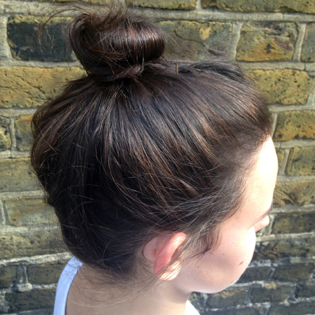 The best hairstyles to wear to the gym - top knot bun - handbag.com