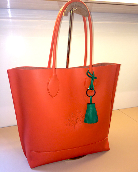 Mulberry Blossom tote-orange-spring summer 2015-colourful handbags-handbag.com