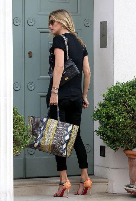 kate moss balenciaga bag and black quilted bag - shopping bag - handbag