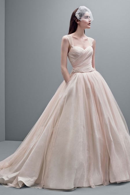 vera wang aw14 wedding dresses - pink dress - shopping bag - handbag