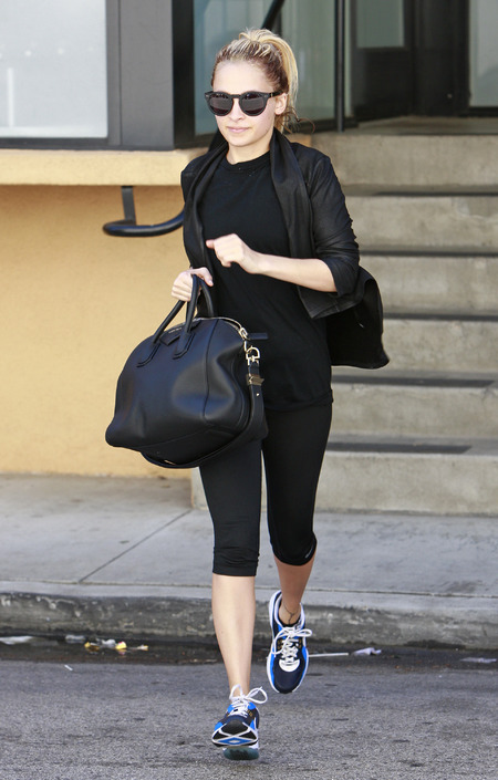 nicole richie givenchy bag - celebrities who take their designer handbags to the gym - shopping bag - handbag