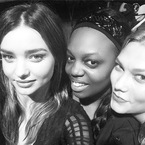 Miranda Kerr unites with model rival Karlie Kloss