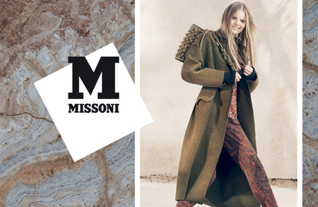 m missoni aw14 campaign - brown bag - shopping bag - handbag