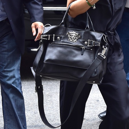 Alessandra Ambrosio's Versace tote bag