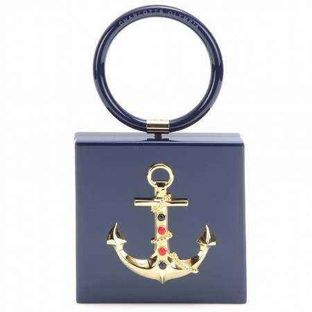 charlotte olympia anchor clutch - best nautical handbags - shopping bag - handbag