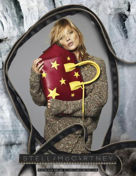 stella mccartney-kate moss-autumn winter 2014 handbag campaign-red star print-handbag.com