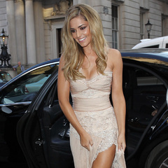 Cheryl Cole - fragrance launch - storm flower - wedding dress - train - lace nude dress - handbag.com