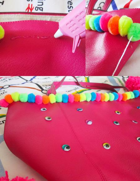 how to make a festival bag - final bag - shopping bag - handbag